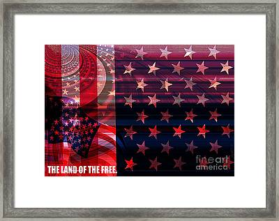 U.s Is On The Continent Framed Print by Fania Simon