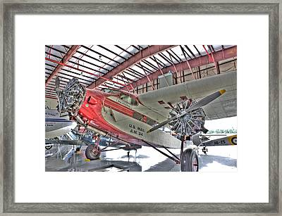 U.s. Mail Carrier Framed Print by Rich Franco