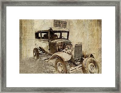 U.s. Mail Truck Framed Print by Kathy Jennings