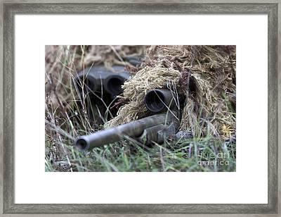 U.s. Marines Practice Stalking Framed Print by Stocktrek Images