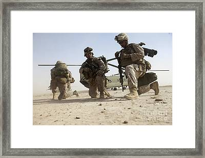 U.s. Marines Unloading Framed Print by Stocktrek Images