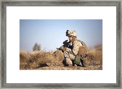 U.s. Navy Soldier Participates Framed Print by Stocktrek Images