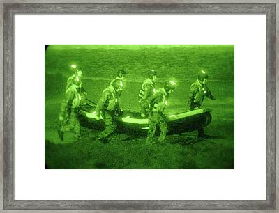 Us Sailors Assigned To Basic Underwater Framed Print by Everett