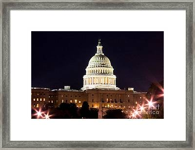 Us Senate Framed Print by Syed Aqueel