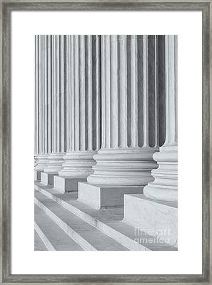 Us Supreme Court Building IIi Framed Print by Clarence Holmes