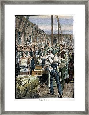U.s. Textile Mill, 1881 Framed Print by Granger