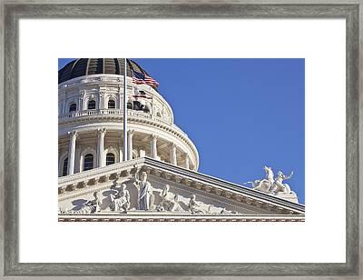 Usa, California, Sacramento, California State Capitol Building Framed Print by Bryan Mullennix