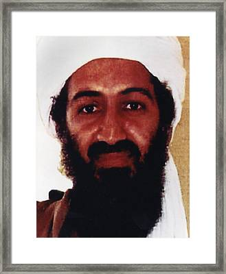 Usama Bin Laden Also Spelled, Osama Bin Framed Print by Everett