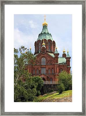 Uspenski Cathedral Helsinki Framed Print by Sophie Vigneault