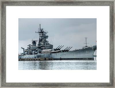 Uss New Jersey Framed Print by Jennifer Ancker