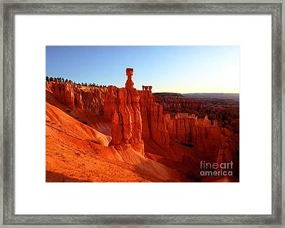 Utah - Thor's Hammer 2 Framed Print by Terry Elniski
