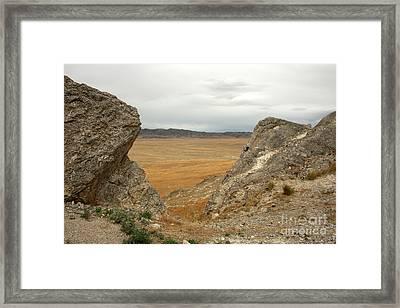 Utah Plains Framed Print by Juan Romagosa