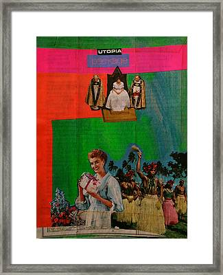 Utopia Package Framed Print by Adam Kissel