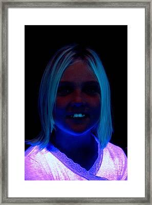 Uv Light Framed Print by Ted Kinsman