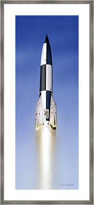 V-2 Prototype Rocket Launch, 1942 Framed Print by Detlev Van Ravenswaay