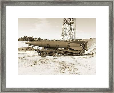 V-2 Rocket Framed Print by Detlev Van Ravenswaay