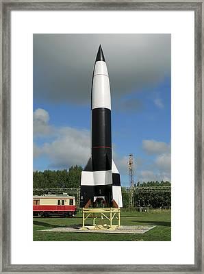 V-2 Rocket Display, Peenemunde Framed Print by Detlev Van Ravenswaay