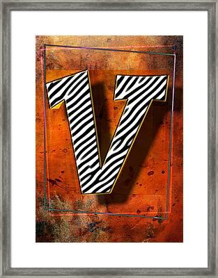 V Framed Print by Mauro Celotti