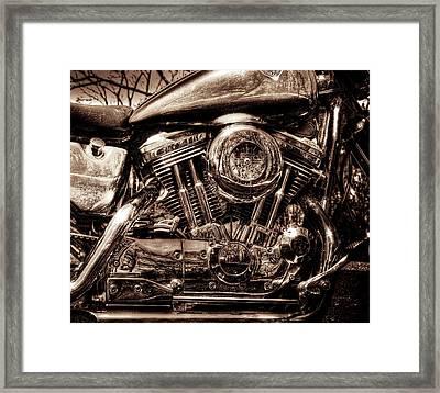 V-twin Framed Print by Steven Arens