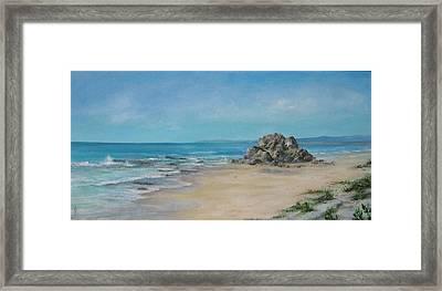 Valla Beach Framed Print by Rita Palm