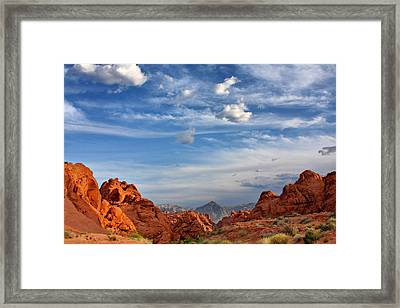 Valley Of Fire Nevada - A Must-see For Desert Lovers Framed Print by Christine Till