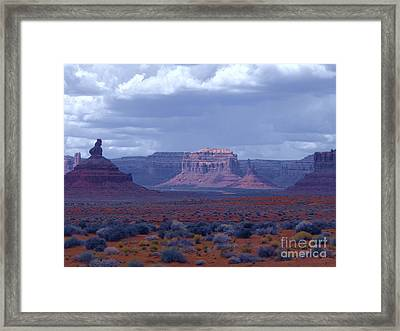 Valley Of The Gods Framed Print by Annie Gibbons