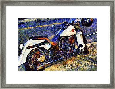Van Gogh.s Harley-davidson 7d12757 Framed Print by Wingsdomain Art and Photography