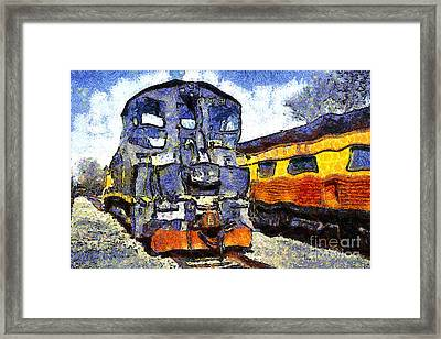Van Gogh.s Locomotive . 7d11588 Framed Print by Wingsdomain Art and Photography
