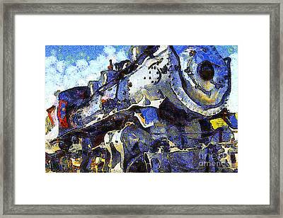 Van Gogh.s Steam Locomotive . 7d12980 Framed Print by Wingsdomain Art and Photography