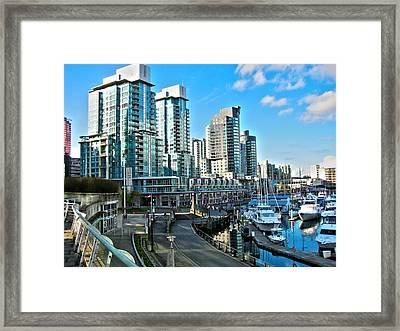 Vancouver Harbour Framed Print by Kamil Swiatek