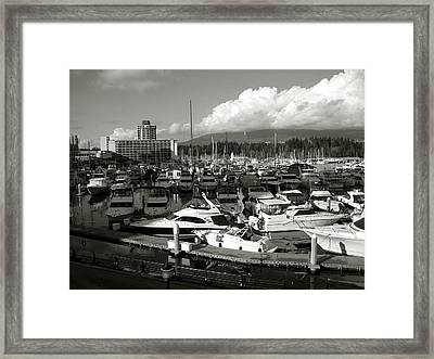 Vancouver Marina Framed Print by Kamil Swiatek