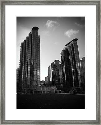 Vancouver Skyscrapers Framed Print by Kamil Swiatek