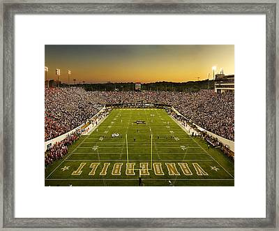 Vanderbilt Endzone View Of Vanderbilt Stadium Framed Print by Vanderbilt University