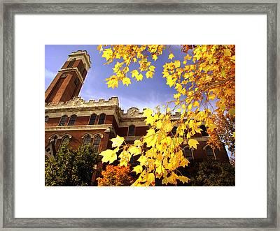 Vanderbilt Kirkland Hall In The Fall Framed Print by Vanderbilt University