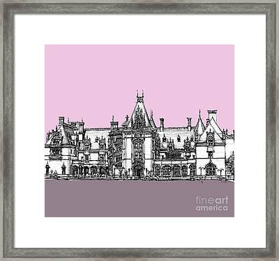 Vanderbilt's Biltmore House In Pink Framed Print by Building  Art