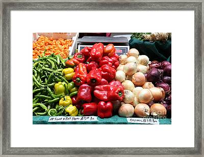 Variety Of Fresh Vegetables - 5d17829 Framed Print by Wingsdomain Art and Photography