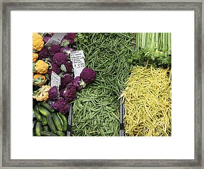 Variety Of Fresh Vegetables - 5d17898 Framed Print by Wingsdomain Art and Photography