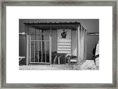 Varosha Forbidden Zone Lake Pumping Station Famagusta Turkish Republic Of Northern Cyprus Trnc Framed Print by Joe Fox