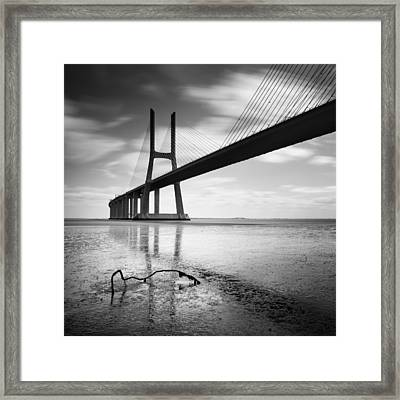 Vasco Da Gama Bridge I Framed Print by Nina Papiorek