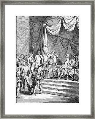 Vasco Da Gama In India Framed Print by Cci Archives
