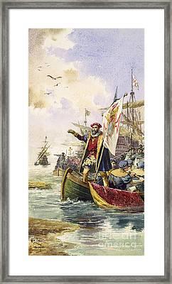 Vasco Da Gama, Portuguese Explorer Framed Print by Photo Researchers