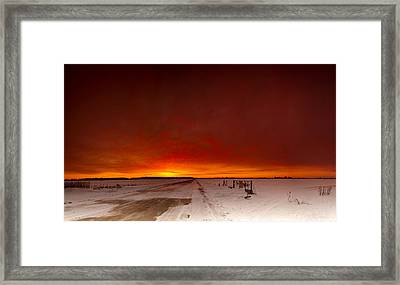 Vast Sunset Framed Print by Cale Best