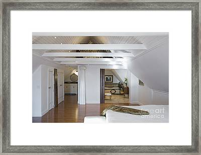 Vaulted Ceiling Bedroom Framed Print by Andersen Ross