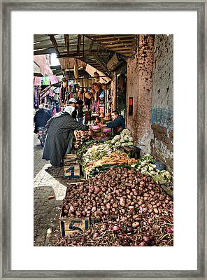 Veg Alley Framed Print by Marion Galt