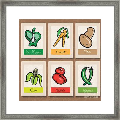Vegetables Framed Print by HD Connelly