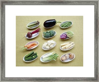Vegetables Framed Print by Veronique Leplat