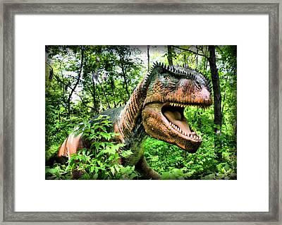 Velociraptor Framed Print by Kristin Elmquist