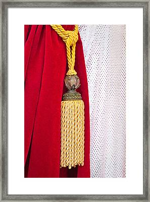 Velvet Curtain Framed Print by Tom Gowanlock
