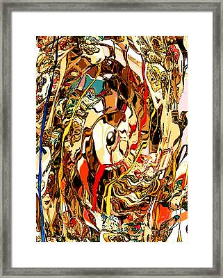 Venetian Abstract Framed Print by Mindy Newman