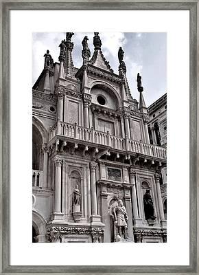 Venetian Architecture Iv Framed Print by Ellen Heaverlo